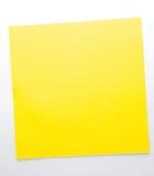Nota appiccicosa gialla Immagini Stock