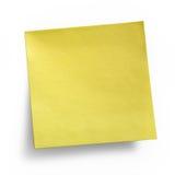 Nota appiccicosa gialla Immagini Stock Libere da Diritti