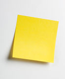 Nota appiccicosa gialla Immagine Stock