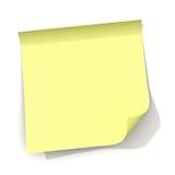 Nota appiccicosa gialla con l'angolo arricciato royalty illustrazione gratis