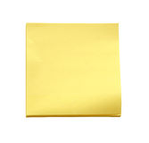 Nota appiccicosa gialla su fondo bianco (percorso di ritaglio) Fotografie Stock Libere da Diritti