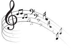 Nota Backgraund di musica illustrazione di stock