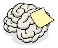 Nota in bianco inviata sul ricordo del cervello Fotografia Stock Libera da Diritti
