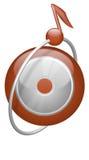 Nota CD del botón de la música en órbita ilustración del vector