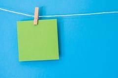 Nota colorida 4 de suspensão quadrados Imagens de Stock Royalty Free