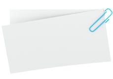 Nota com grampo de papel Fotografia de Stock