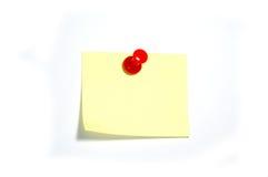 Nota con il thumbtack fotografia stock libera da diritti
