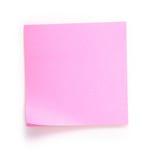 Nota cor-de-rosa Imagem de Stock Royalty Free