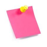 Nota cor-de-rosa Fotografia de Stock