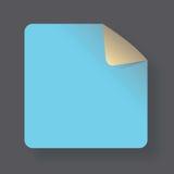 Nota d'angolo blu Fotografia Stock