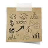 A nota da carta de negócio do desenho gravada recicl o papel fotografia de stock royalty free