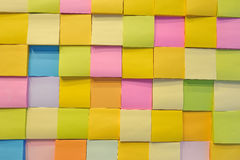 Nota da cor de papel Fotografia de Stock