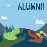 Nota da escrita que mostra alunos Academia graduada idosa apresentando da faculdade do recolhimento do pós-graduado do alume da f ilustração stock