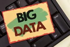 Nota da escrita que mostra dados grandes Grande quantidade apresentando da foto do negócio de informação que precisa de ser anali Imagem de Stock Royalty Free