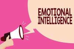 Nota da escrita que mostra a inteligência emocional O auto apresentando da foto do negócio e a conscientização social seguram rel ilustração do vetor