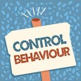 Nota da escrita que mostra o comportamento de controle Exercício apresentando da foto do negócio da influência e da autoridade so ilustração stock
