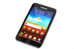Nota da galáxia de Samsung Imagens de Stock Royalty Free