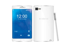 Nota 5 da galáxia de Samsung ilustração do vetor