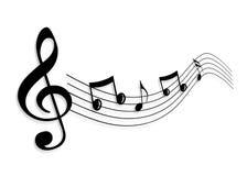 Nota da música ilustração royalty free