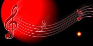 Nota da música Imagem de Stock
