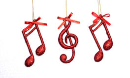 Nota da música do Natal, cena do Natal, decoração Imagens de Stock