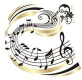 Nota da música. Imagem de Stock