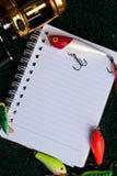 Nota da pesca Foto de Stock Royalty Free
