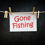 Nota da pesca andata fotografia stock libera da diritti