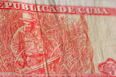 Nota de banco do cubano de Che Guevara Foto de Stock