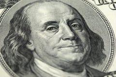 Nota de banco do dólar americano 100 Foto de Stock