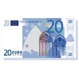 nota de banco do euro 20 ilustração do vetor