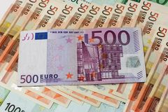 A nota de banco do euro 500 Fotografia de Stock Royalty Free