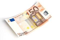 Nota de banco do euro 50 Imagem de Stock