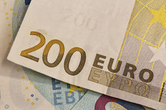 nota de banco do euro 200 Fotografia de Stock Royalty Free