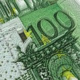 nota de banco do euro 100 Imagens de Stock Royalty Free