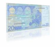 Nota de banco do euro vinte Imagem de Stock