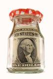 Nota de banco engarrafada Fotografia de Stock