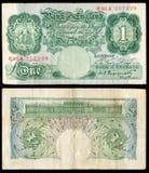 Nota de banco inglesa velha imagens de stock