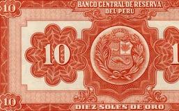 Nota de banco peruana velha foto de stock royalty free
