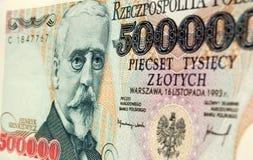 Nota de banco polonesa de Henryk Sienkiewicz Foto de Stock