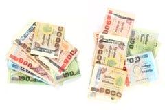 Nota de banco tailandesa usada. Fotografia de Stock Royalty Free