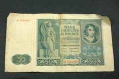 Nota de banco velha Fotografia de Stock