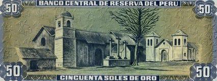 Nota de banco velha de Peru Foto de Stock Royalty Free