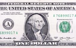 Nota de dólar da moeda uma dos EUA Fotografia de Stock Royalty Free