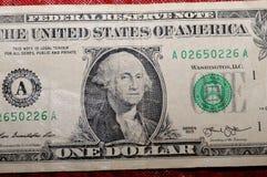 NOTA DE DÓLAR DOS EUA NO DEUS QUE NÓS CONFIAMOS EM COPENHAGA imagens de stock royalty free