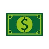 nota de dólar, ilustração do vetor sobre o fundo branco ilustração royalty free