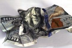 Nota de dólar triturada Fotografia de Stock