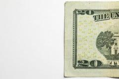 Nota de dólar vinte 20 Imagens de Stock