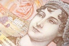 Nota de diez libras con el retrato imagen de archivo