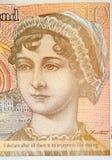 Nota de diez libras con el retrato de Jane Austen foto de archivo libre de regalías